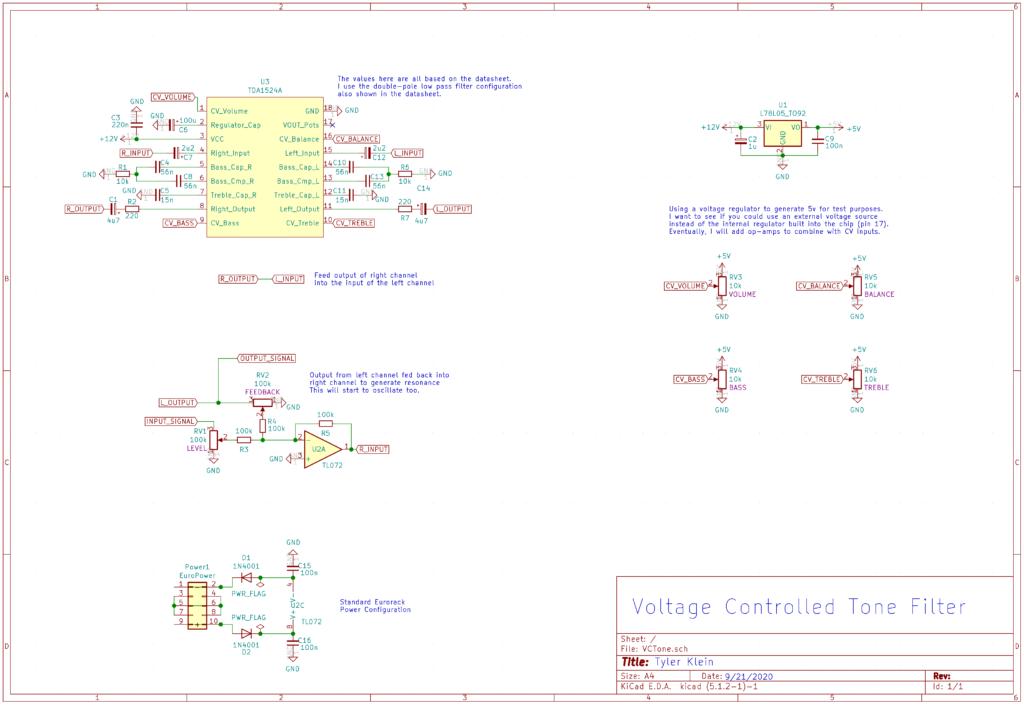 VC Tone Control Schematic
