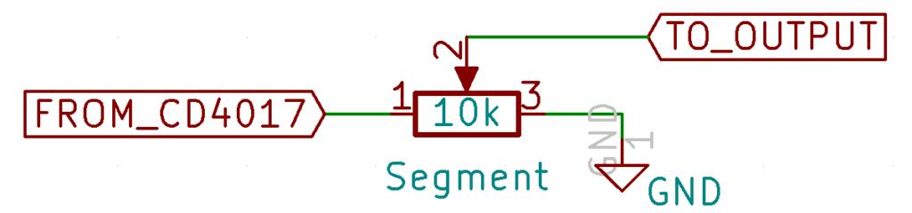 Voltage Divider Circuit (single segment)