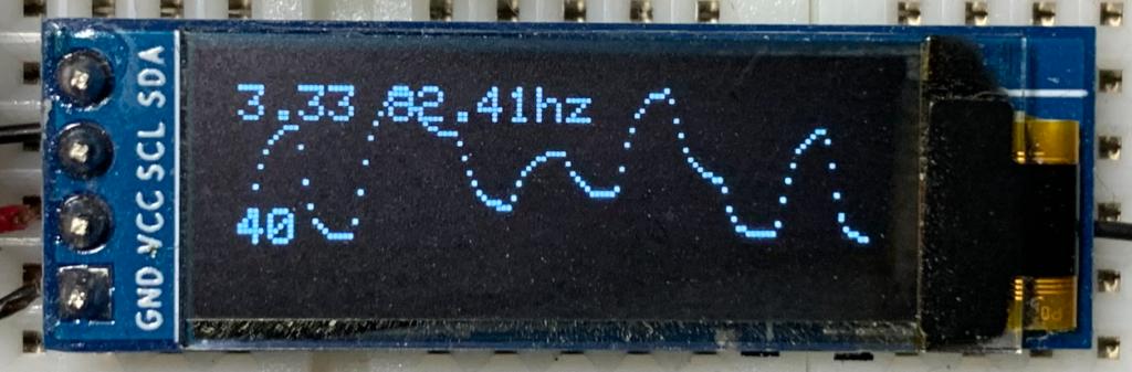 Oscilloscope readings powered by Arduino Nano