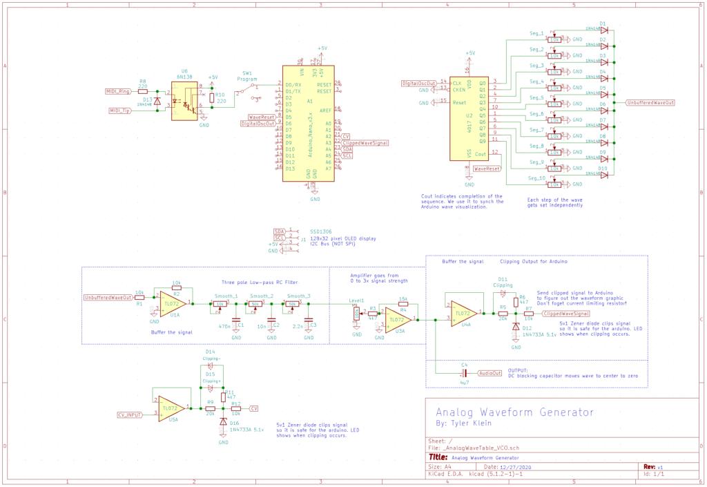 Full schematic of the Waveform Generator